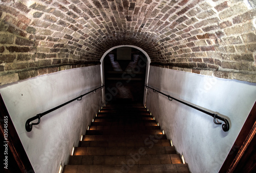 dark staircase basement
