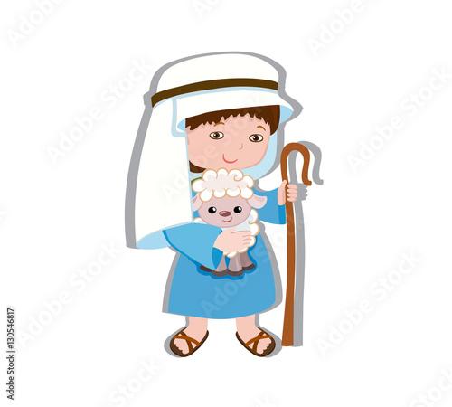 Photo  Illustration of good shepherd cartoon design
