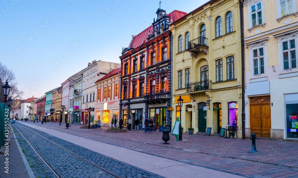 Fototapety, obrazy: Architecture of the main street of Kosice, Slovakia, Europe