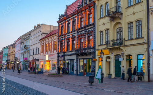 Obraz Architecture of the main street of Kosice, Slovakia, Europe - fototapety do salonu