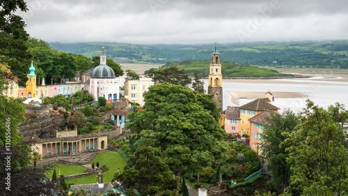 The fantasy village of Portmeirion, Gwynedd, North Wales, UK