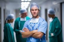Portrait Of Male Nurse Standin...