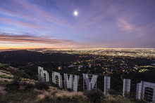High Angle View Of Hollywood S...