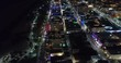 Night aerial video footage of Miami Beach FL