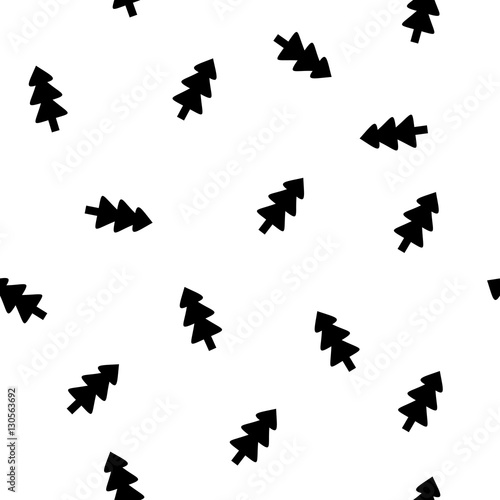 Fir-tree seamless pattern