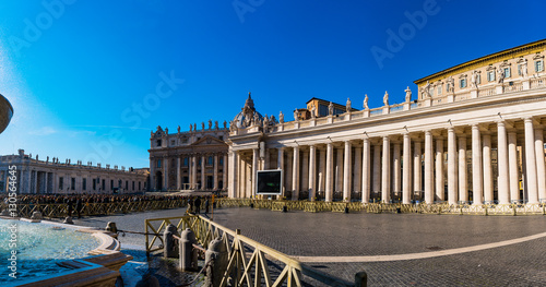 Apostolic Palace is residence of Pope, Vatican Wallpaper Mural