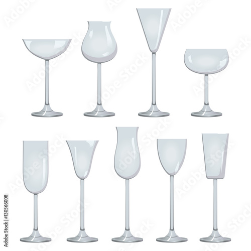 a00063816684 Types of Wine and Glasses Description Set of types of wine and glasses red  white sparkling
