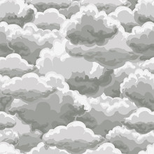 Thunder Sky Seamless Pattern. ...