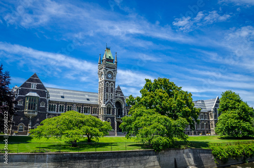 The University of Otago Registry Building, also known as the Clocktower Building Canvas Print