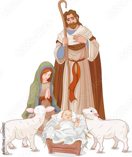 Poster Magie Nativity scene
