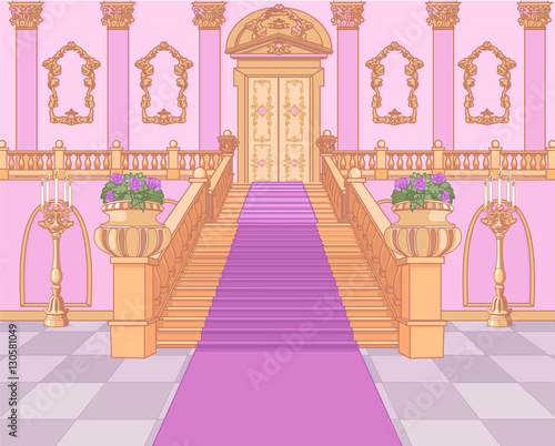 Poster Magie Luxury Staircase in Magic Palace