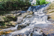 Beautiful Nature Waterfall In ...