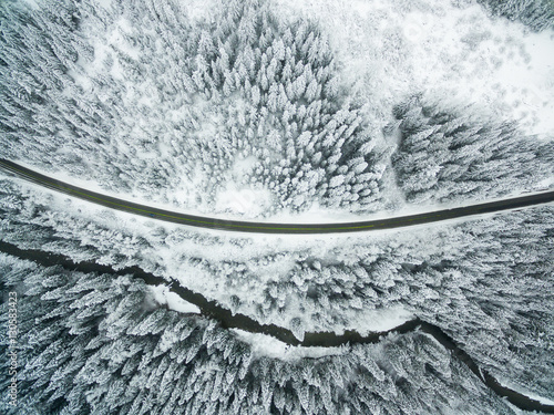 Fotografie, Obraz  Flying above a beautiful village