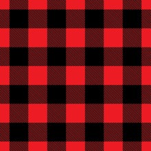 Seamless Buffalo Plaid In Red ...