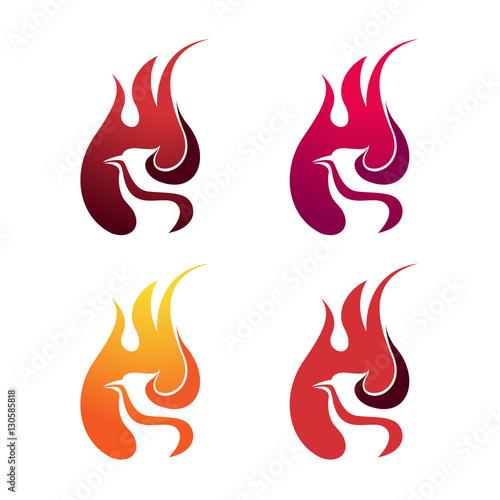 Phoenix Eagle Fire Flame Blaze Bird Logo Symbol Buy This Stock
