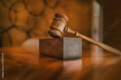 Legal law concept image Canvas Print