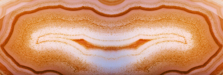 Fototapeta Kamienie dark orange agate long structure macro