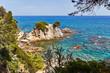 The beautiful rocky coast of the Mediterranean Sea in Spain