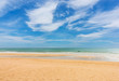 The beach and blue sky on daylight