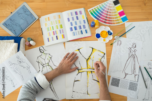Fotografia, Obraz  Coloring fashion sketch