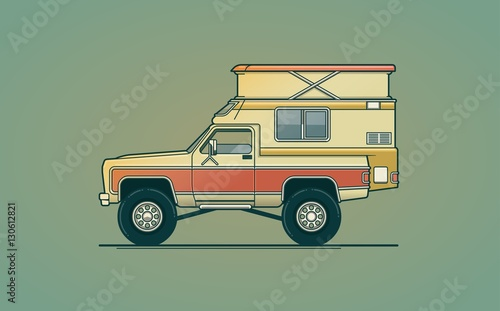 airstream camper illustration Canvas Print