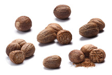 Set Of Whole And Ground Nutmegs, Paths