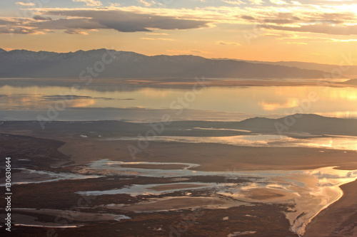 Salt Lake, Utah at sunset