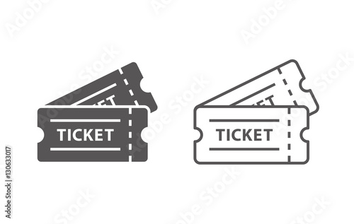 Fotomural  event tickets vector icons
