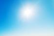 shining in the blue sky