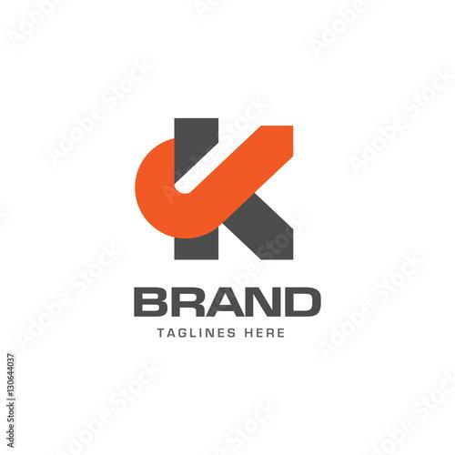 Letter K Logo Strong Elegant Classy Concept. Creative Letter K Template Logo