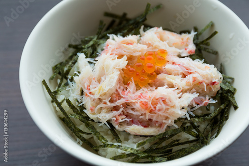 Photo  Steamed crab rice