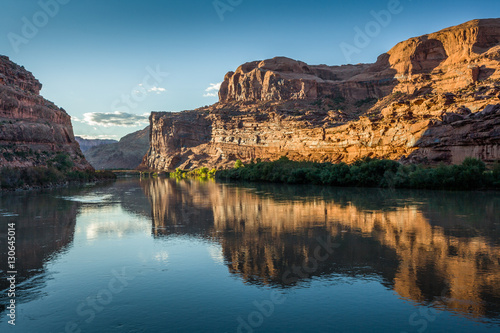 Sunset at La Sal Mountain Loop, Utah 128, Colorado River Canvas Print