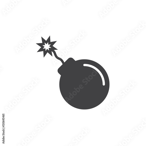 bomb icon vector, filled flat sign, solid pictogram isolated on white Canvas Print