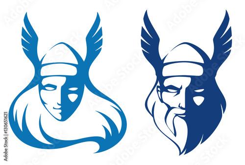 Fotografie, Obraz  line illustrations of characters from Scandinavian mythology