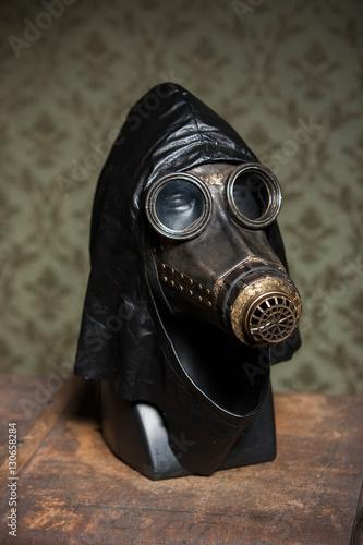 Photographie  Gasmaske,Leder, viktorianisch, Steampunk, Filmkostüm, Einzelstück, Handarbeit