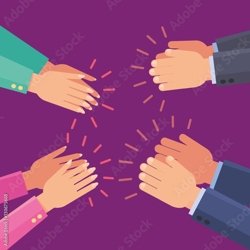 vector applause clap hands buy this stock vector and explore