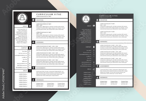grid style cv layout  buy this stock template and explore