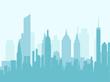 City skyline vector illustration.