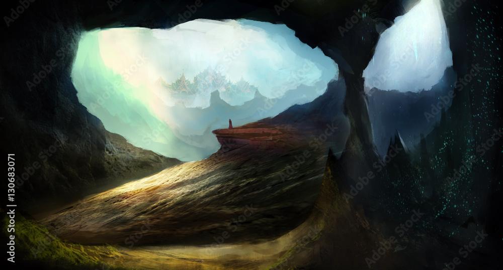 Unexplored cave