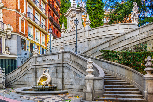 view of a spiral staircase in Madrid