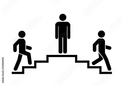 Upstairs-downstairs icon sign Fototapeta