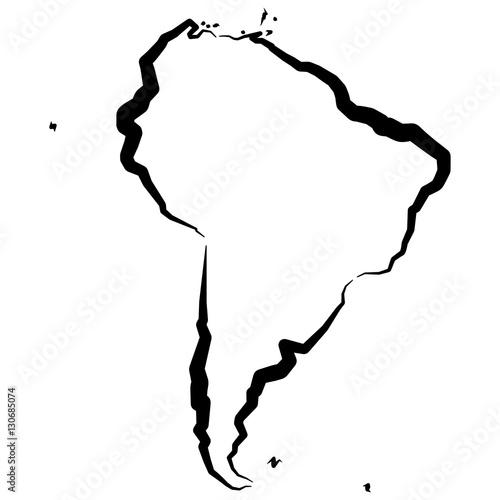Fotografía  Ameryka Południowa - mapa