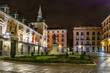 Night view of the Plaza de La Villa in the old town of Madrid