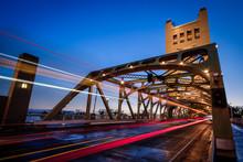 Sacramento Tower Bridge At Dusk