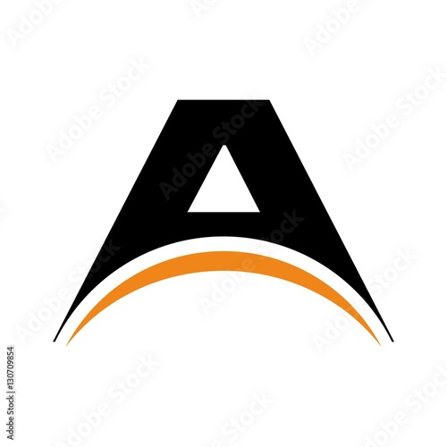 arc logo. arch symbol. logotype. Canvas Print