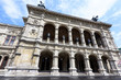 Photo view on horse and angels statues at vienna opera state house, austria