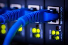 Server,Fiber,Network, Fiber Optic Network Server,Network Cables Installed In The Network Cable ,install In The Rack, Wire,