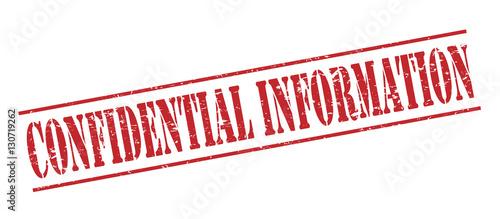 Fotografía  confidential information red stamp on white background