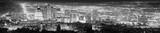 Fototapeta Miasto - Salt Lake City black and white panoramic picture, USA.
