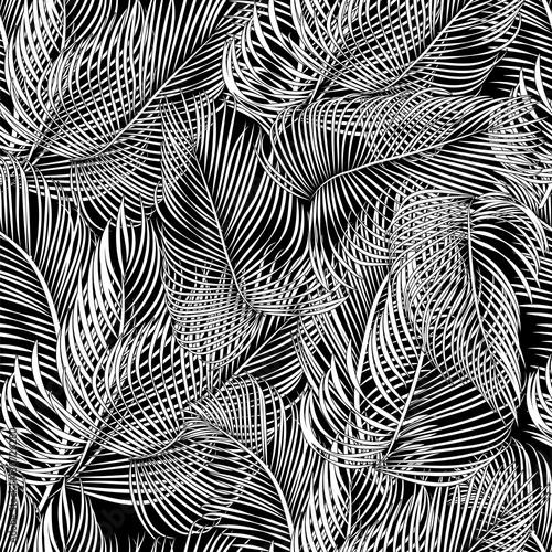 Cotton fabric vector palms pattern